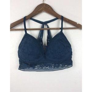 Victoria Secret Blue Lace Bralette M
